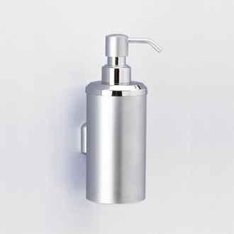 Soap Dispenser Wall Mounted Rounded Brass Soap Dispenser Windisch 90427