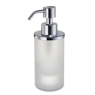 Soap Dispenser Round Frosted Crystal Glass Soap Dispenser Windisch 90463M