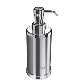 Soap Dispenser Round Chrome or Gold Soap Dispenser with Swarovski Crystals on Top Windisch 90504