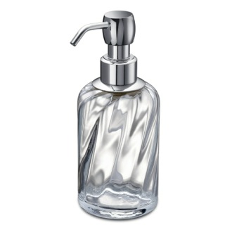 Soap Dispenser Chrome Brass and Twisted Glass Soap Dispenser Windisch 90801CR