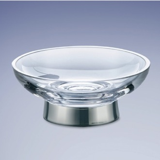 Soap Dish Free Standing Round Glass Soap Dish Windisch 921311