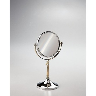 Makeup Mirror Free Standing Brass Mirror With 3x, 5x Magnification Windisch 99104