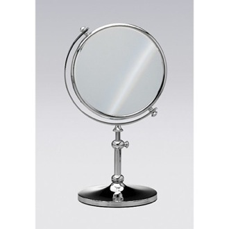 Makeup Mirror Free Standing Brass Mirror With 3x Magnification Windisch 99111