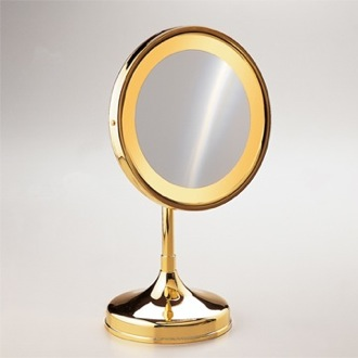 Makeup Mirror Pedestal Round 3x or 5x Magnifying Mirror Windisch 99151