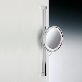 Makeup Mirror Chrome or Gold Round Wall Mounted 3x or 5x Magnifying Mirror Windisch 99182