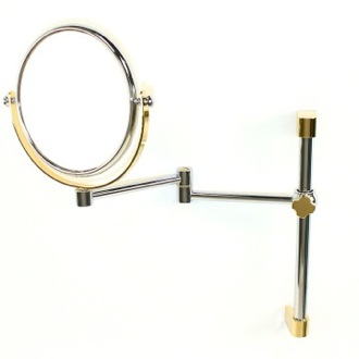 Makeup Mirror Wall Mounted Double Face 3x, 5x, 5xop, or 7xop Magnifying Mirror Windisch 99140
