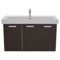 39 Inch Wenge Wall Mount Bathroom Vanity with Fitted Ceramic Sink