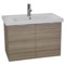 31 Inch Wall Mount Larch Canapa Vanity Cabinet With Fitted Sink