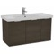 39 Inch Wall Mount Grey Oak Vanity Cabinet With Fitted Sink