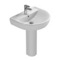 Round White Ceramic Pedestal Sink