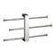 Polished Chrome Wall Mounted Towel Rack With 3 16 Inch Sliding Rails