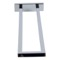 Stylish Rectangular Chrome Towel Bar with Two Rails