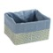 Square Storage Basket in Grey or Moka