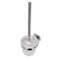 Wall Mounted Frosted Glass Toilet Brush Holder with Chrome Mounting