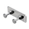Chrome Towel or Robe Hook Rack with 2 Hook(s)