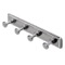 Chrome Robe or Towel Hook Rack with 4 Hook(s)