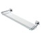24 Inch Clear Glass Bathroom Shelf Holder with Chrome