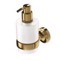 Wall Mounted Gold Brass and Frosted Glass Soap Dispenser