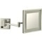 Satin Nickel Square Wall Mounted LED 3x Magnifying Mirror, Hardwired