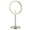 Satin Nickel Double Sided Free Standing 3x Makeup Mirror