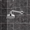 Chrome Five Function Shower Head and 12 Inch Stainless Steel Shower Arm