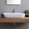 Oval White Ceramic Vessel Sink