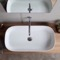 Oval White Ceramic Trough Vessel Sink