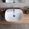 Oval White Ceramic Drop In Sink