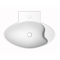 Oval-Shaped White Ceramic Wall Mounted or Vessel Sink