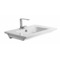 Sleek Rectangular Ceramic Wall Mounted Sink