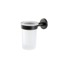Wall Mounted Frosted Glass Toothbrush Holder with Black Brass