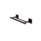12 Inch Square Double Towel Bar in Black