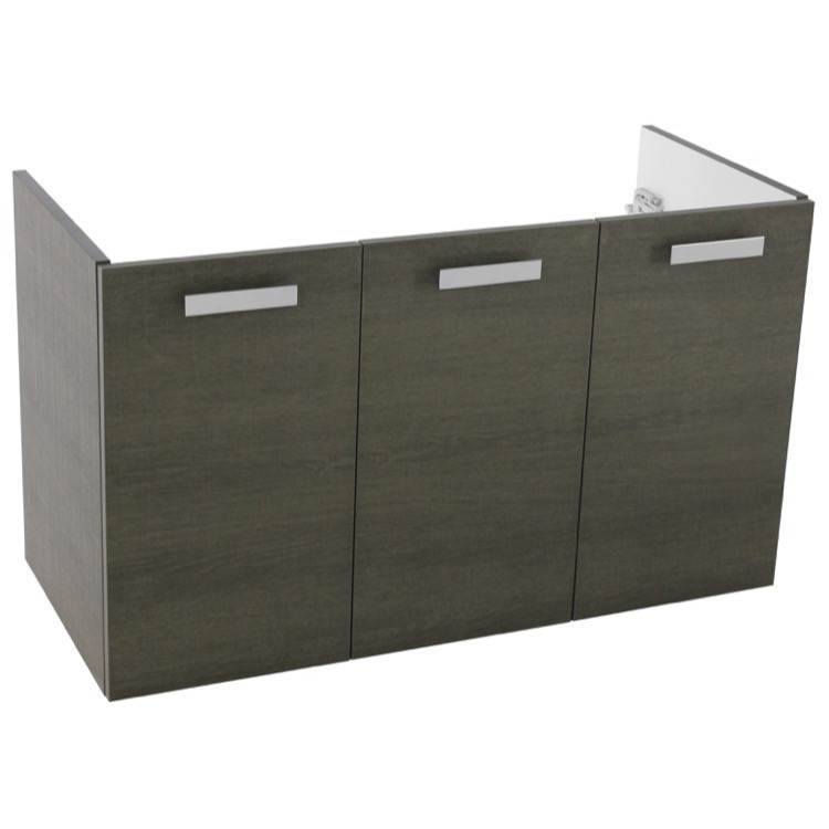 Vanity Cabinet, ACF L420GO, 37 Inch Wall Mount Grey Oak Bathroom Vanity Cabinet