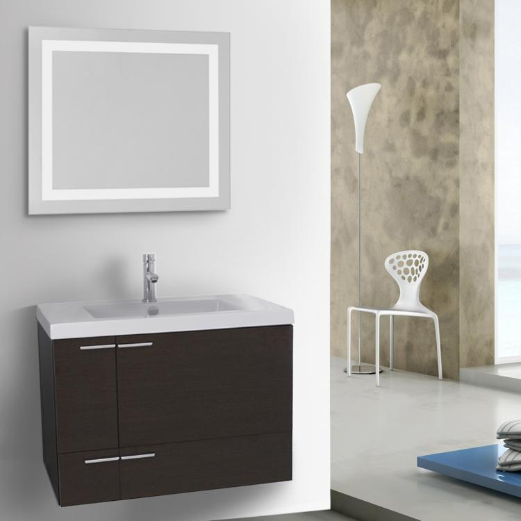 Bathroom Vanity Acf Ans531 31 Inch Wenge With Ed Ceramic Sink