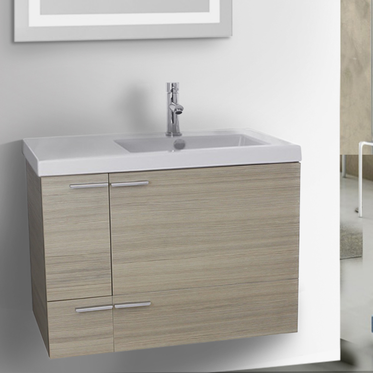Bathroom Vanity, ACF ANS20, 31 Inch Bathroom 2 Piece Vanity Set