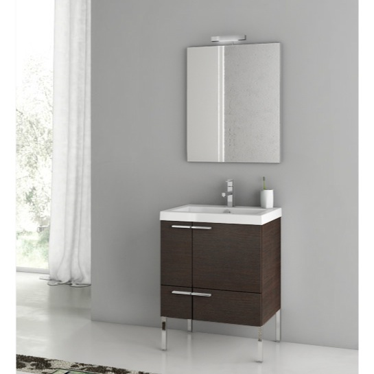 Bathroom Vanity, ACF ANS01-Wenge, 23 Inch Bathroom Vanity Set