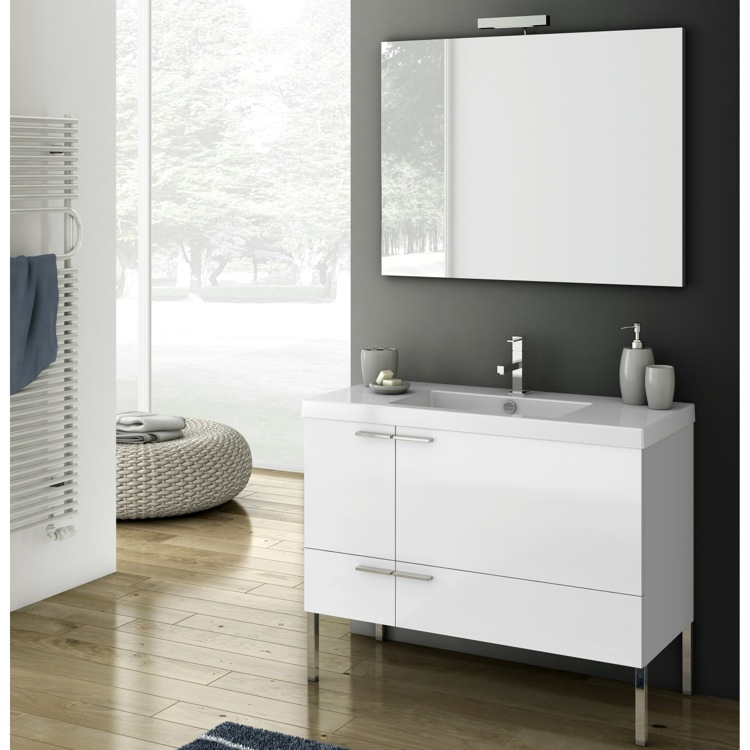 Bathroom Vanity, ACF ANS04, 39 Inch Bathroom Vanity Set