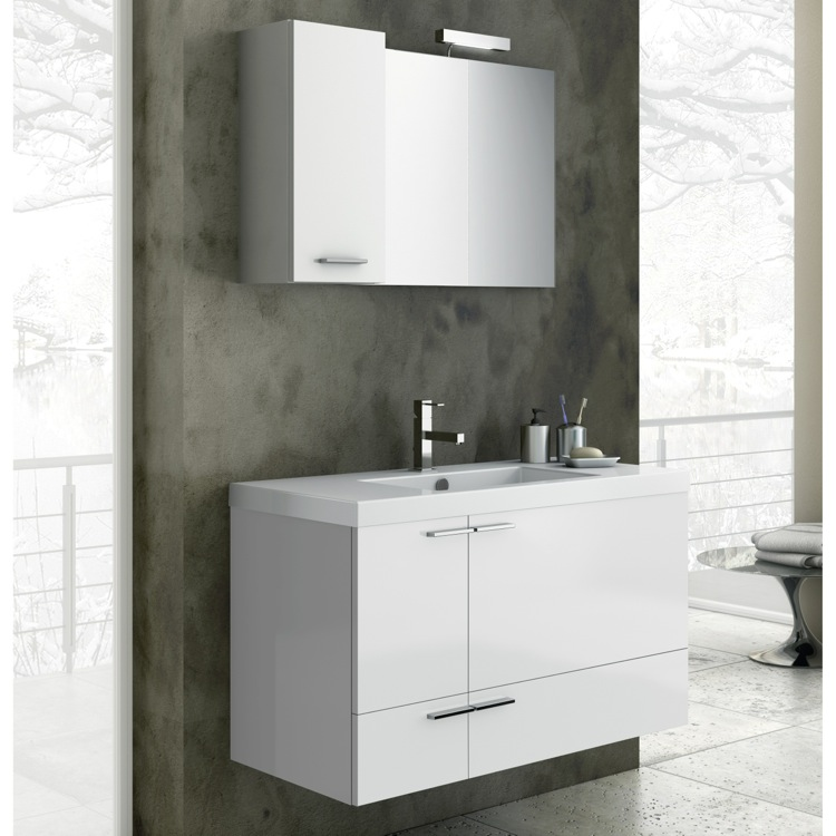 Bathroom Vanity, ACF ANS06, 39 Inch Bathroom Vanity Set