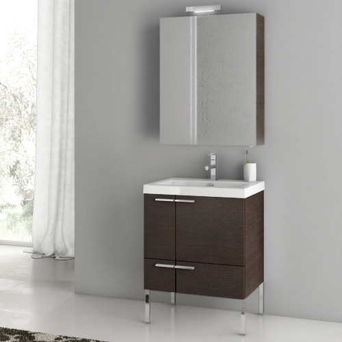 Bathroom Vanity, ACF ANS14-Wenge, 23 Inch Bathroom Vanity Set