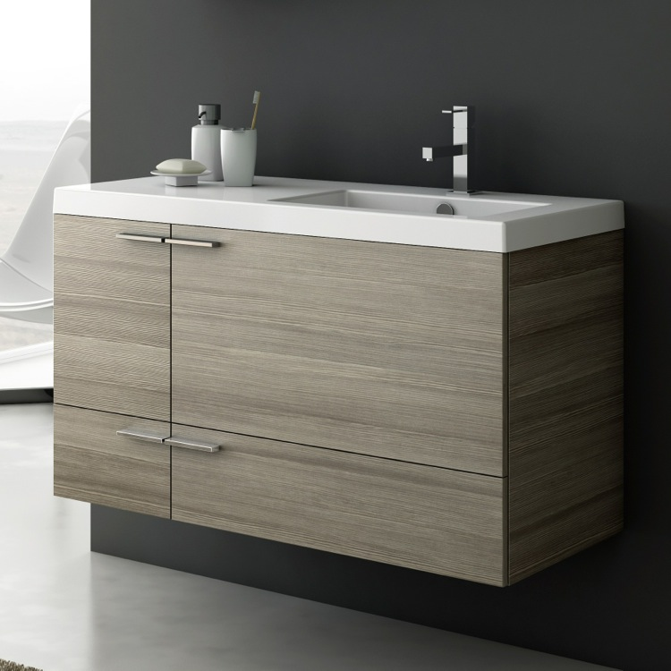 Bathroom Vanity, ACF ANS45, 39 Inch Vanity Cabinet With Fitted Sink