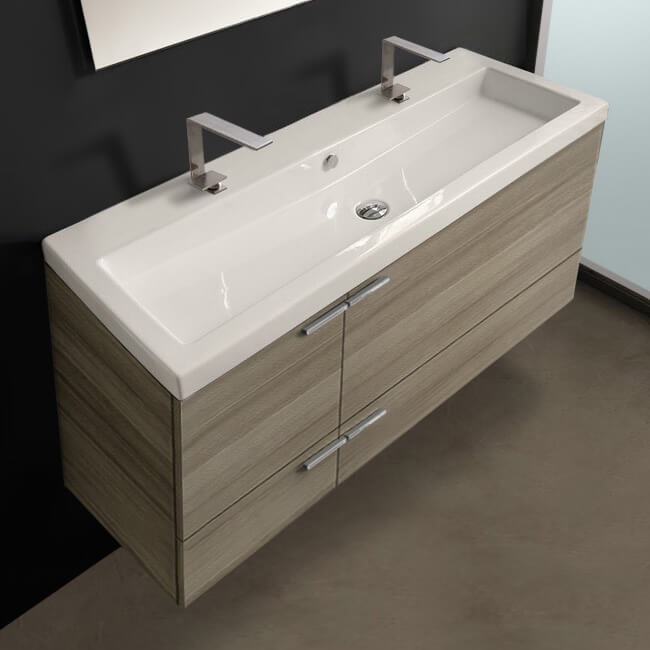 Bathroom Vanity, ACF ANS39, 47 Inch Vanity Cabinet With Fitted Sink