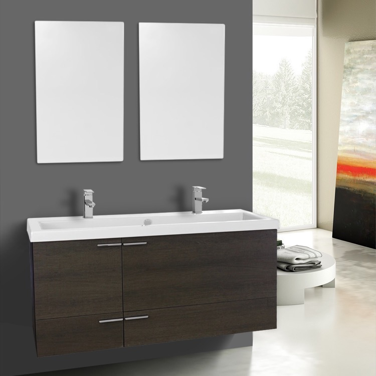 to stylish with double shop furniture vanities pertaining awesome sink espresso shipping vanity small inch inches contemporary bathroom tn wall free in mount