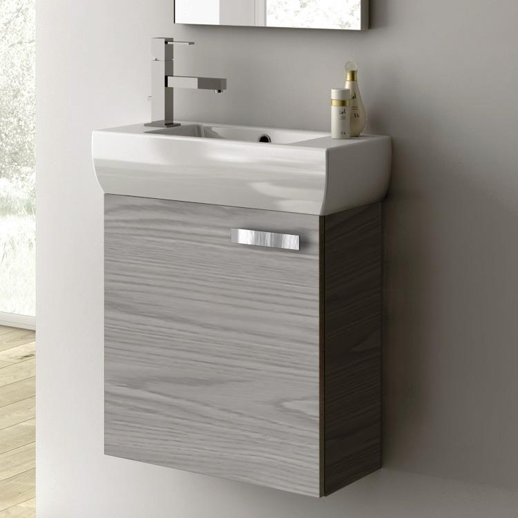 Acf C13 Grey Walnut Bathroom Vanity Cubical Nameek S