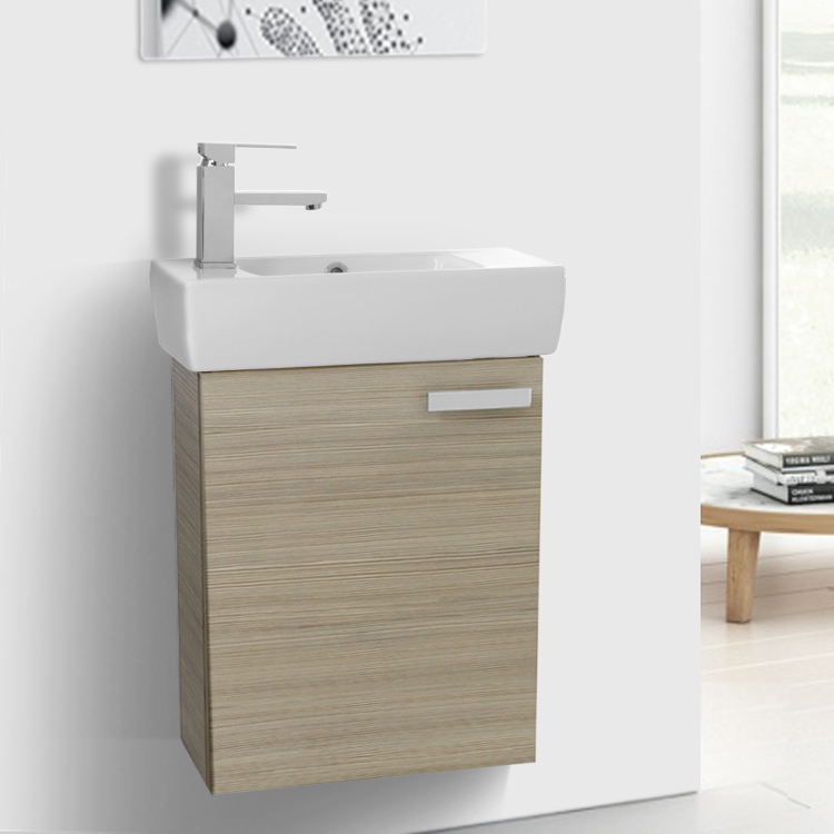 Bathroom Vanity Acf C136 19 Inch E Saving Larch Canapa With Ceramic
