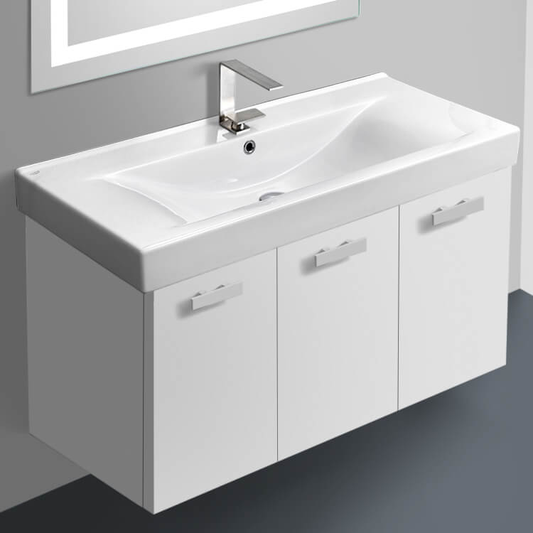 Bathroom Vanity, ACF C19, 39 Inch Vanity Cabinet With Fitted Sink