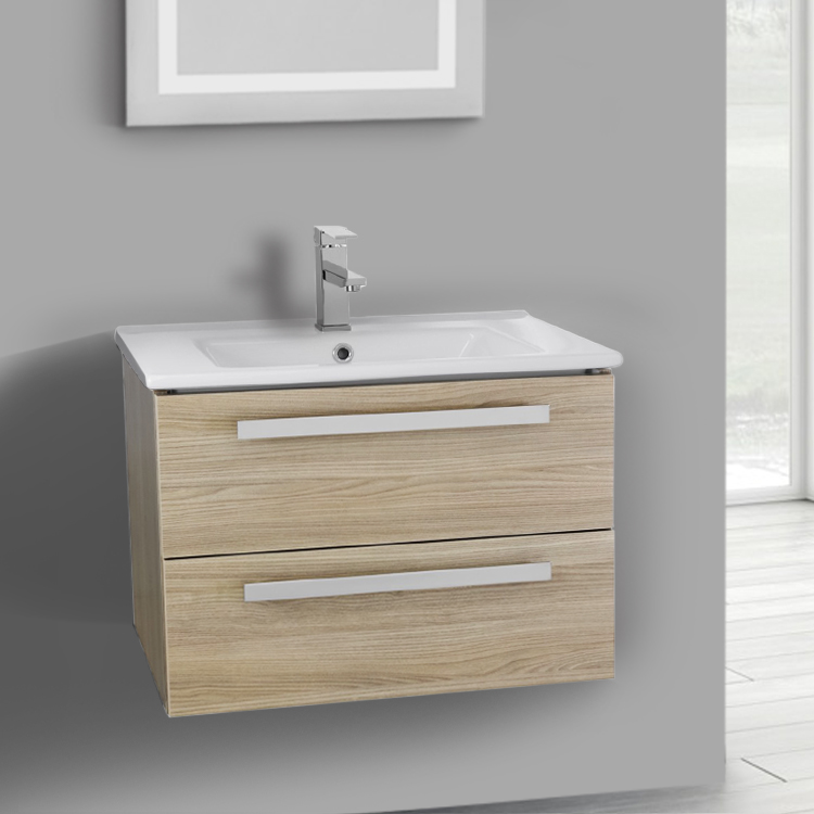 Bathroom Vanity, ACF DA04, 24 Inch Vanity Cabinet With Fitted Sink