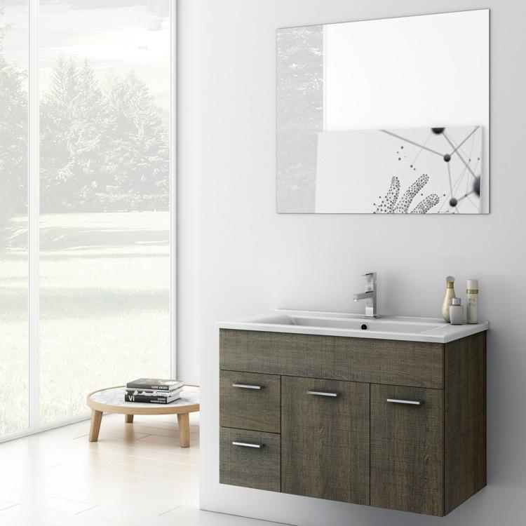 Bathroom Vanity, ACF LOR02, 33 Inch Bathroom Vanity Set