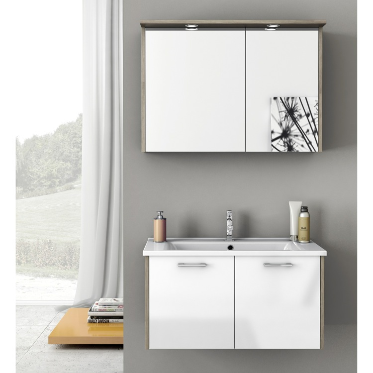 Bathroom Vanity, ACF NI02, 33 Inch Bathroom Vanity Set