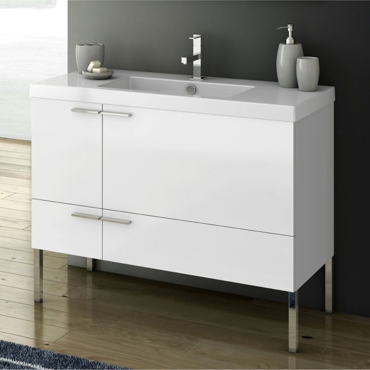 Bathroom Vanity, ACF ANS33, 39 Inch Vanity Cabinet With Fitted Sink