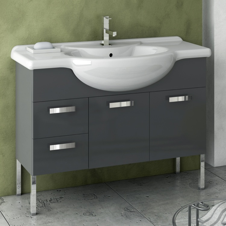 Bathroom Vanity, ACF PH10, 39 Inch Vanity Cabinet With Fitted Sink